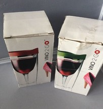 Vino2Go 10 Ounce Insulated Wine Tumbler Set with Drink-Through Lid ( See... - $17.95