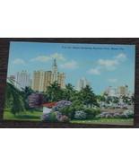Vintage Color Tone Postcard, Hotels Bordering Bayfront Park, Miami FLA. VGC - $2.96