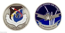 "LOS ANGELES AIR FORCE BASE SEPTEMBER 18, 1947 1.75"" CHALLENGE COIN - $16.24"