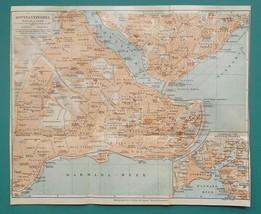 "1934 MAP 9 x 10.5"" (22 x 27 cm) - CONSTANTINOPLE Turkey Istanbul - $21.60"