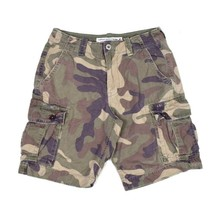 American Eagle Outfitters Classic Camo Army Cargo Shorts Utility Pocket Mens 31 - $12.86
