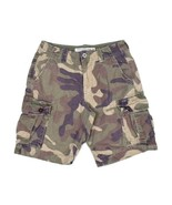 American Eagle Outfitters Classic Camo Army Cargo Shorts Utility Pocket ... - $12.86