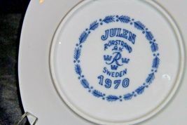 Sweden 1970 Limited Edition Christmas Plate by Julen Rörstrand  AA20-CP2313 Vint image 4