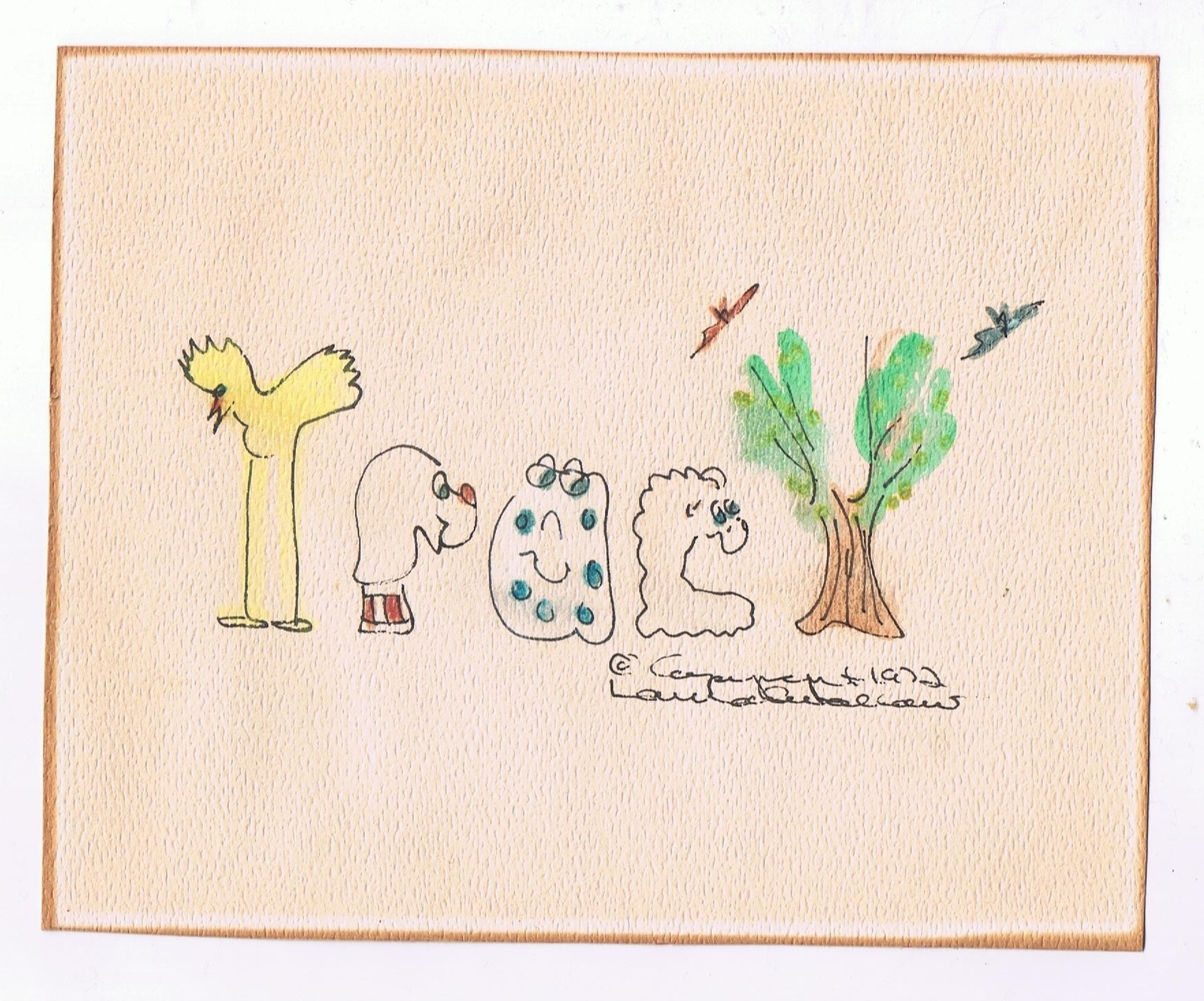 Primary image for Vintage 1972 Child/Kid Name Drawing ~ Tracy ~ Suitable for Framing-8 X 6.5