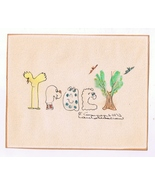 Vintage 1972 Child/Kid Name Drawing ~ Tracy ~ Suitable for Framing-8 X 6.5 - $4.99