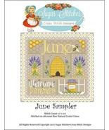 June Monthly Sampler 2017 series cross stitch c... - $10.00