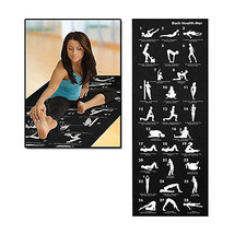 Black Exercise Yoga Gym Fitness Pro-workout 6mm Mat Non-Slip with Instru... - $1.443,92 MXN
