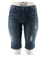 Hot in Hollywood Denim Boyfriend Shorts Cerulean Blue 20W NEW A290649 - $30.67