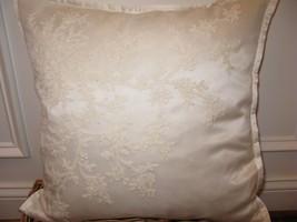 Ralph Lauren SAINT HONORE Shadow Cream Silk Throw Pillow $185 - $106.65