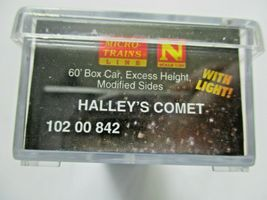 Micro-Trains # 10200842 Halley's Comet 60' Boxcar with Light N-Scale image 6