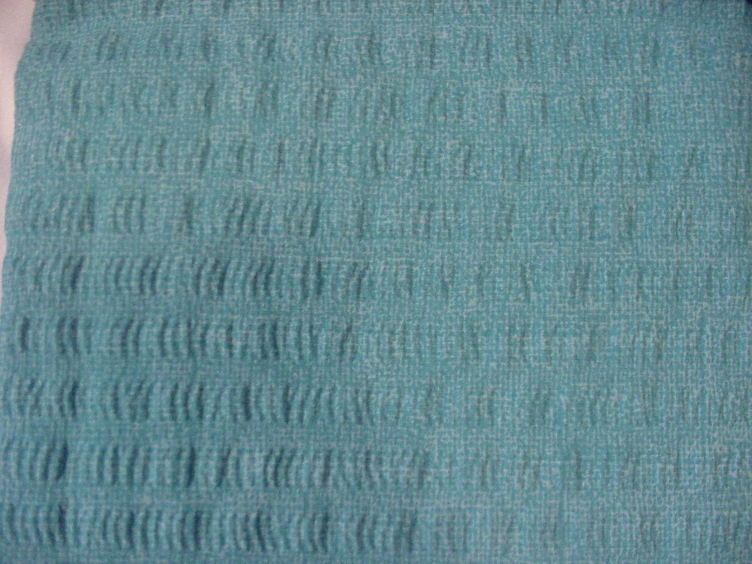 Tommy Hilfiger Cabana Stripe Seersucker Turquoise/White Shower Curtain