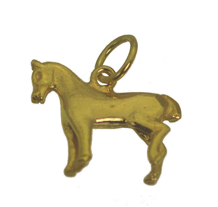 NICE Gift for anyone who loves horse Pony lover jewelry CHARM 24K Gold Plated Je