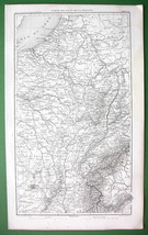 1859 ANTIQUE MAP - East of France & Piedmont in Italy - $16.20