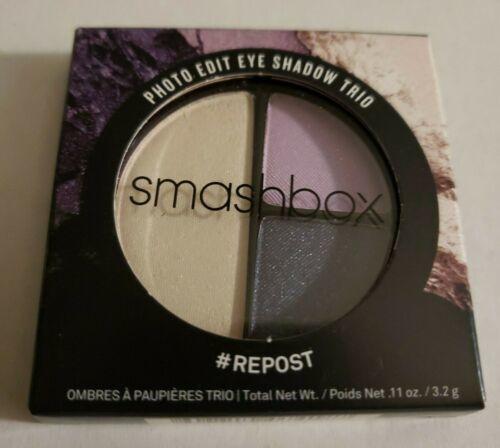 """Smashbox Photo Edit Eyeshadow Trio """"#REPOST"""" Full Size NIB purple navy cream - $8.00"""
