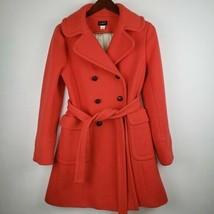 J Crew Double Belted Double Breasted Wool Coat 10 - $125.54