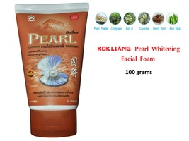 KOKLIANG Kok liang Natural Herbal herb Facial cleanser foam Pearl whitening 100g - $11.27
