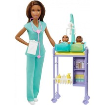 Barbie Baby Doctor Playset With African America Doll, 2 Infants - $24.63