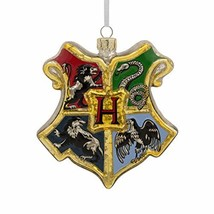 Hallmark Christmas Ornaments, Harry Potter Hogwarts Crest Blown Glass Or... - $48.71