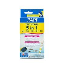 API 5-in-1 Test Strips Freshwater and Saltwater Aquarium Test Strips 25-... - $33.84