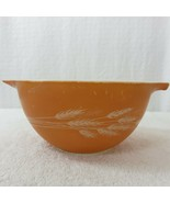 Vintage Pyrex Autumn Harvest Wheat Orange Cinderella Bowl 441 750ml Made... - $24.70