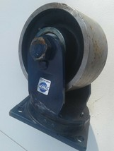 RWM Dual Wheel swivel metal caster heavy duty very heavy. image 1