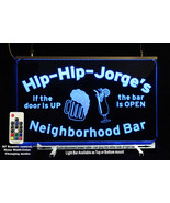 Personalized Lighted Sign, Custom Bar Sign, Man Cave Sign, Wedding gift  - $94.05+