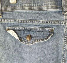 Lee women 8 high waist short jeans pants blue image 5