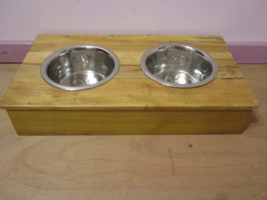 Dual Bowl Elevated Pet Feeder/ Water Combo - $65.95