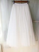 Plus Size White Long Floor Length Tulle skirt White Wedding Bridesmaid Skirt NWT image 5