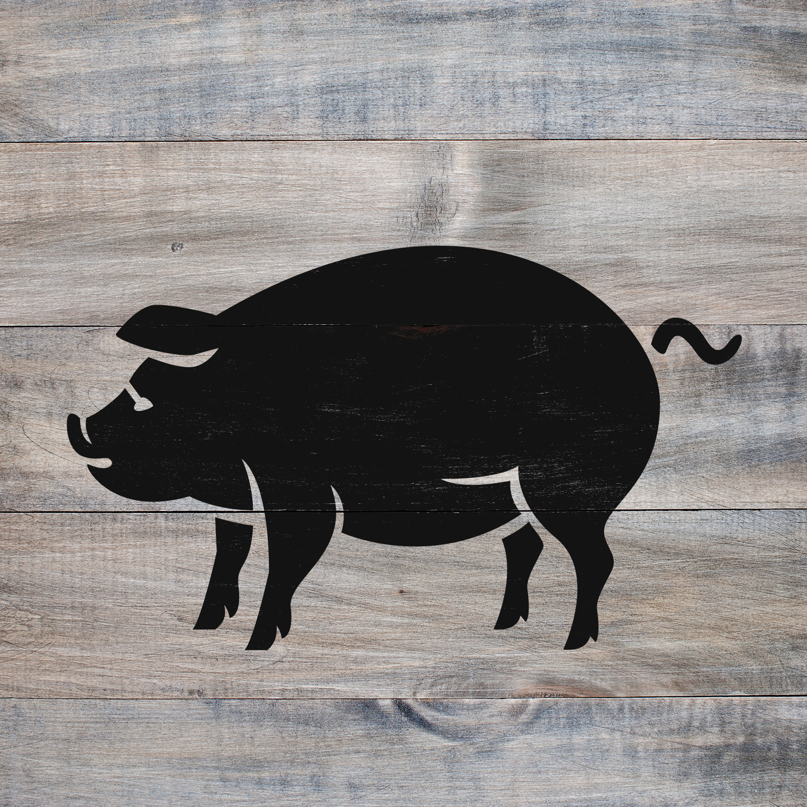 Pig Stencil - Reusable Stencils of a Pig Available in Small & Large Sizes