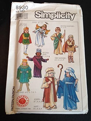 Primary image for Simplicity 8930 Sewing Pattern, Adults' and Boys' and Girls' Nativity Costumes,