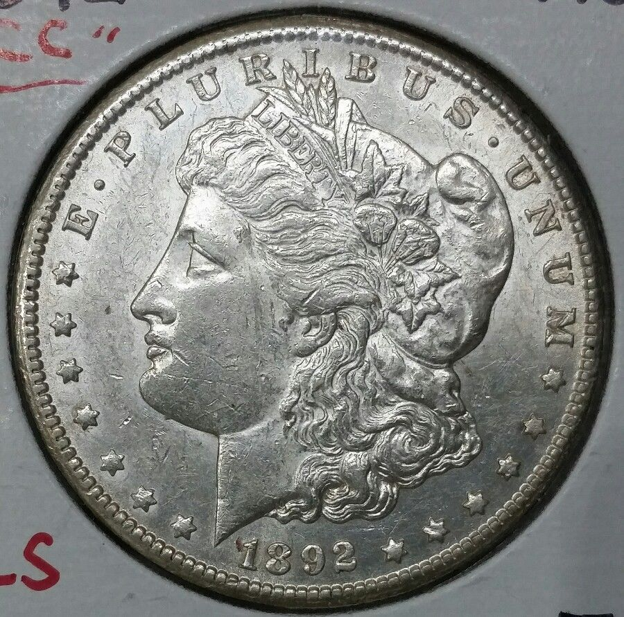 1892CC MORGAN SILVER ONE DOLLAR Coin Lot # E 5