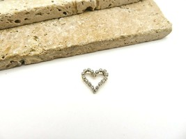Vintage Small 925 Sterling Silver Open Heart Pendant C63 - $16.99