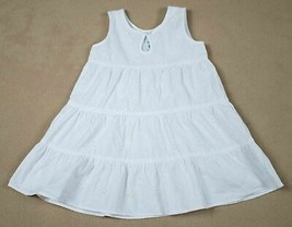 OLD NAVY GIRLS XL 18-24M  DRESS WHITE EYELET BEACH PORTRAIT 100% COTTON ... - $14.84