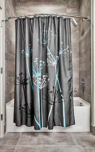 InterDesign Thistle Shower Curtain, Standard - Gray and Blue (Standard)