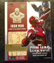 Incredi-Builds IRON MAN Collectible 3D Wood Model And Book Set Marvel NEW! - $25.99