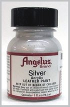 Angelus Acrylic Leather Paint-1oz.-Silver - $2.26