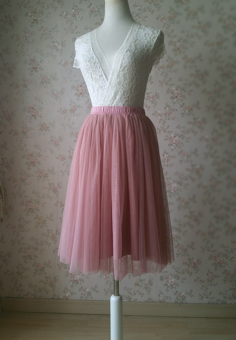 Pink tulle skirt 2