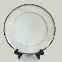 Mikasa Hyde Park Platinum Dinner Plate Fine China Dinnerware White Body ... - $39.88