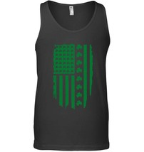 St Patricks Day Irish American USA Flag Shamrock Tank Top Gift - $23.99+