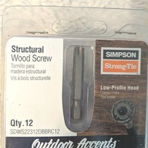 Simpson StrongTie SDWS22312DBBRC12 Low Profile Head Structural Wood Screw image 2