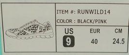 Crazy Train RUNWILD14 Black Pink Cheetah Sneakers Size 9 image 11