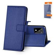 Reiko - Samsung Galaxy S20 Ultra 3-in-1 Wallet Case -Blue - $8.79