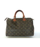 Authentic LOUIS VUITTON Monogram Canvas Leather Speedy 30 Handbag Bag Purse - $301.02