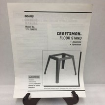 Craftsman Floor Stand Assembly Operation Instruction Manual ONLY 171.29497B - $13.99