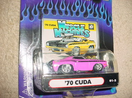 Muscle Machines '70 Cuda 01-2 Hot Pink Mip Free Usa Shipping - $11.29