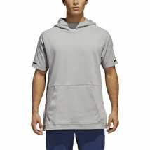 Adidas Squad Short Sleeve Hoodie Men's Large L Multisport CV3288 Grey New - $69.99