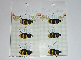 Adorable 3D Detailed Bee Shank Buttons Realistic Bee Buttons (6) - $5.44