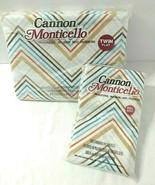 Chevron Zig Zag Twin Flat Sheet + Pillowcases NEW SEALED Cannon Sunray S... - $37.57