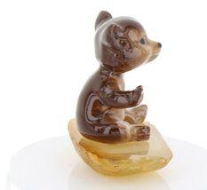 Hagen Renaker Miniature Baby Bear Cub Sitting on Base Stepping Stones #2762 image 7